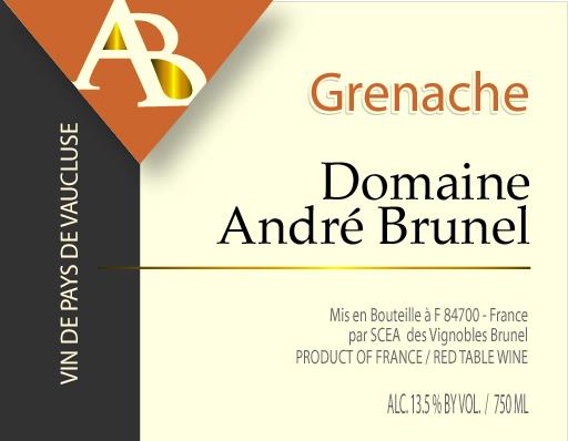 Brunel Grenache label