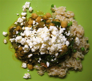 Greek chickpeas with spinach